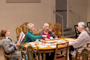 From left: Dales Soules as Papa, Alice Cannon as Aunt Jenny, Susan Lehman as Aunt Sigrid, and Barbara Andres as Mama.
