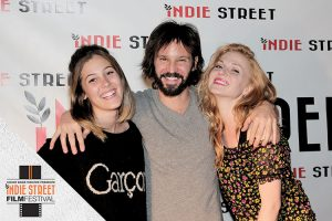 The inaugural Indie Street Film Festival will come to Red Bank July 6-10. From left: Kelli Reilly, Indie Street Filmmaker Rodrigo Lopresti and actress Natalia Zvereva. Photo courtesy Indie Street Film Festival