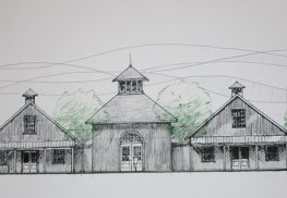 A rendering of the proposed Colts Neck Stillhouse, a gin and whiskey distillery approved for Route 34.