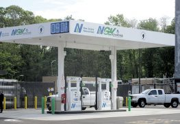Middletown's new compressed natural gas filling station, which is at the township Public  Works yard at the end of Kanes Lane.