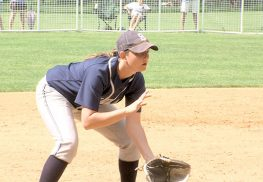 Middletown South 3rd baseman Sarah Corey had a two run homer that proved to be the game winning hit in the Eagles 5-3 victory against West Essex.
