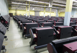 Some of #MonmouthCo's 916 vote machines used in last wk's primaries back in warehouse. Photo: Joseph Sapia