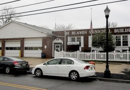 Two Highlands borough workers were injured in a floor collapse at the former Municipal Building, 171 Bay Ave.