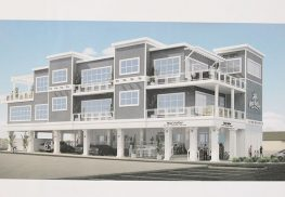 An architectural rendering of the proposed rebuilt and expanded Mad Hatter restaurant and bar in Sea Bright.