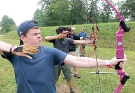 Scouts from Troop 290 in Colts Neck, practice their archery skills at the Boy Scout camp in Forestburg in upstate New York in July. Photo courtesy of Troop 290.