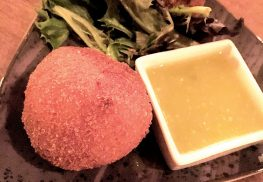 Coxinhas  -- Brazilian chicken croquettes -- is a popular appetizer at Graze.