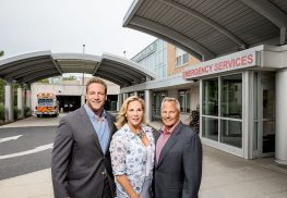 Christian Peter, and Lisa and Rick Stavola, are board member and founders, respectively, of the Tigger House Foundation, which has given Riverview Medical Center a $120,000 donation to hire addiction counselors for the medical center's emergency department. Richard Titus/Meridian Health Affiliated Foundations