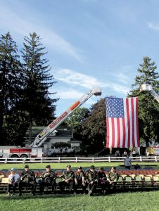 A crowd of 750 gathered for the Middletown 9/11 remembrance ceremony at the township's World Trade Center Memorial Gardens.