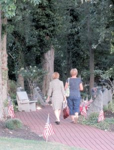 Family members enter the Middletown World Trade Center Memorial Gardens at the conclusion of the Sept. 11 ceremony.