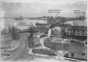 The tracks of the Long Branch and Sea Shore Railroad were between Ocean Avenue and the seawall in Sea Bright. The original seawall has been hardened with concrete several times over the years to protect the northern end of town from intrusions of the Atlantic Ocean.