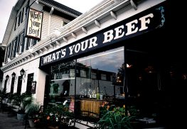"Restaurateur Marilyn Schlossbach and partners are bringing a new concept to the old ""What's Community nights, where the restaurant par tners with a charity on the last Thursday of the month, will continue. There will be jazz and acoustic music on Friday and Saturday night. New to the restaurant Your Beef"" on West River Road in Rumson. Photo courtesy M. Schlossbach"