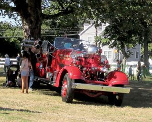 The Port Monmouth Fire Company displayed its 1947 Ahrens-Fox pumper truck at Middletown Day.