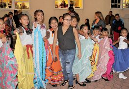 Students from the Red Bank Charter School dressed in traditional costumes to perform a Mexican ballet in celebration of Hispanic Heritage Month.