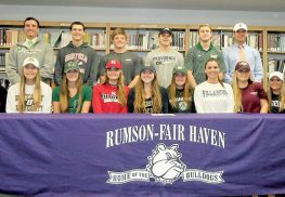 Sixteen Rumson-Fair Haven student athletes were part of the school's fall signing day ceremony on Nov. 8.