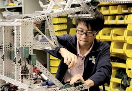 Sophomore Kevin Yu is the builder/engineer and driver for Ranney School's world-ranked robotics team, nicknamed Spitfire.