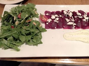 The Red Beet Carparccio is a classic dish on the menu at SeaGrass. --B. Sacks