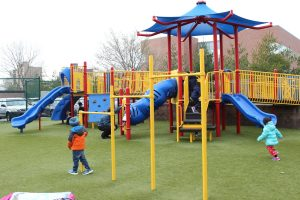 St. Joseph's School For the Blind has a multi-sensory playground with adaptive equipment.