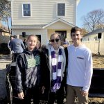 Rumson-Fair Haven Regional students helped build a house for a Long Branch family, under the Habit for Humanity House That Youth Built program. From left: Kate Hofferber, Charlotte Miller and Bryan Thompson.
