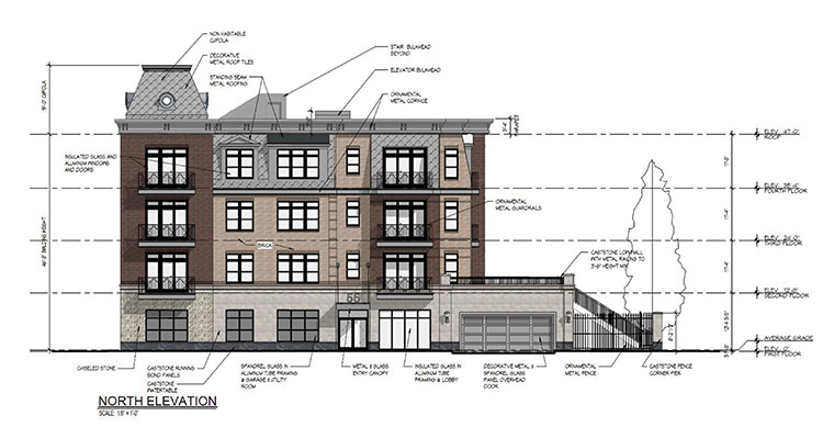 Architectural Rendering Of The Element An Upscale Multistory Apartment Complex For Downtown Red Bank That Became Controversial With Rezoning