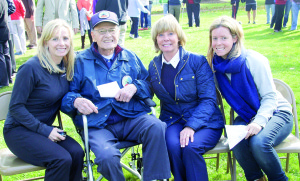 Rumson resident Jack Fowler, who fought in the Battle of the Bulge during World War II, enjoys the day with daughters, Grace Wrightson and Robin Hemphill, and granddaughter, Carrie Hemphill. Photo by Marnie Doherty Photography