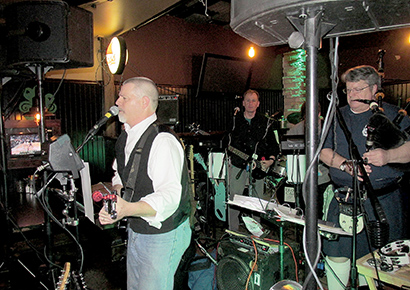 The Bloody Callan Band entertained Rumson St. Patrick's Day Parade supporters on Feb. 27. Photo by John Burton