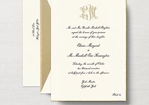 Engraved Royalty Alexandra Suite Wedding Invitations by Crane & Co. The Papery, The Grove, Shrewsbury. Phone: 732-741-0414. Website: www.thepapery.com