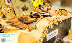 The American Indian: Tribes of New Jersey and the Eastern Woodlands trunk brings a bevy of Monmouth Museum artifacts and lessons to the classroom or facility. Courtesy Monmouth Museum