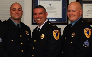 Left to right: Sgt Jason Caruso, Lt. Sean Sweeney, Sgt. Charles Higgins,