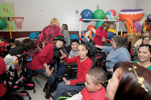 Volunteer Patti Delaney enjoys bringing smiles to the guests at Holiday Express events. Photo: Courtesy Holiday Express