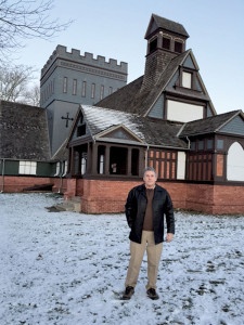 James Foley, president of the Long Branch Historical Museum Association at the Church of the Seven Presidents (St. James Chapel) on Ocean Avenue in Long Branch Tuesday. Photo: Rick Geffken