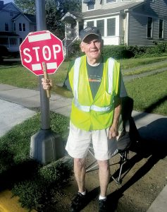"""Richard """"Bucky"""" earned 12 Varsity letters during his athletic career at RBC. Moran is a crossing guard just a couple of blocks down the road from his alma mater."""