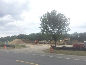 The site where the new soccer compex will be situated in Tinton Falls.