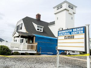 The Monmouth Beach Cultural Center is closed following a fire.