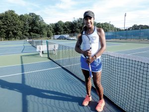 Brianna Gibbs, one of the highest ranked girls tennis players in New Jersey, hopes to lead the Holmdel Hornets back to the state finals in her senior season. Photo: Jay Cook
