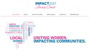 Impact 100's homepage.