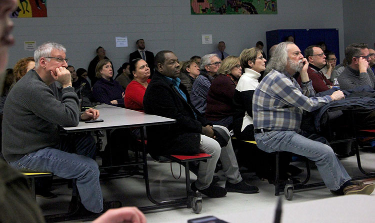 Approximately 100 Red Bank residents, business owners and elected officials were on hand to hear the results of a long-awaited parking study from Walker Consultants.