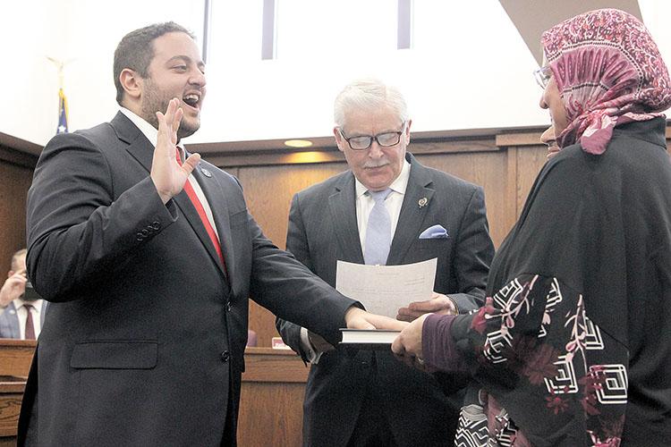 Councilman Hazim Yassin was sworn into office on Jan. 1 in Red Bank.