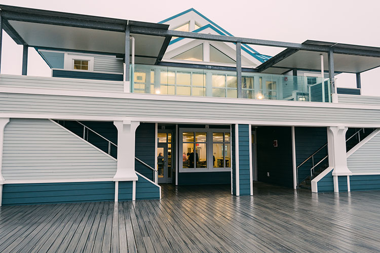 The library will allow patrons to take a book out on the oceanfront deck.