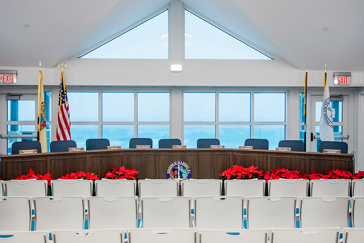 The Sea Bright Council's new meeting room. Photo by Patrick Olivero