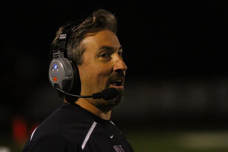 Nick Giglio spent 10 seasons as Red Bank Regional's head football coach winning a division title in 2015.  Photo courtesy RBR