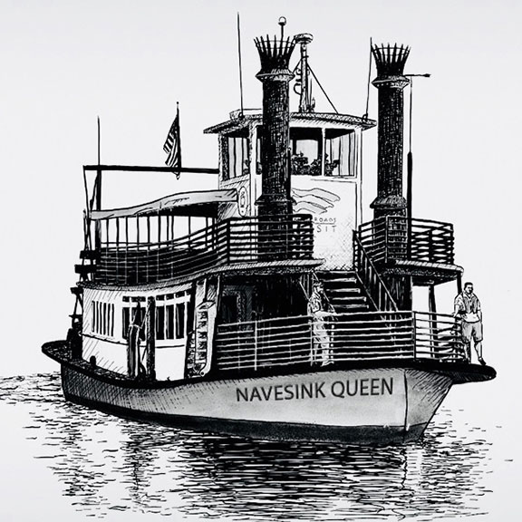 The Two River Times A Paddle Wheeler Called The Navesink