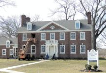 Large brick General's House at the former Fort Monmouth
